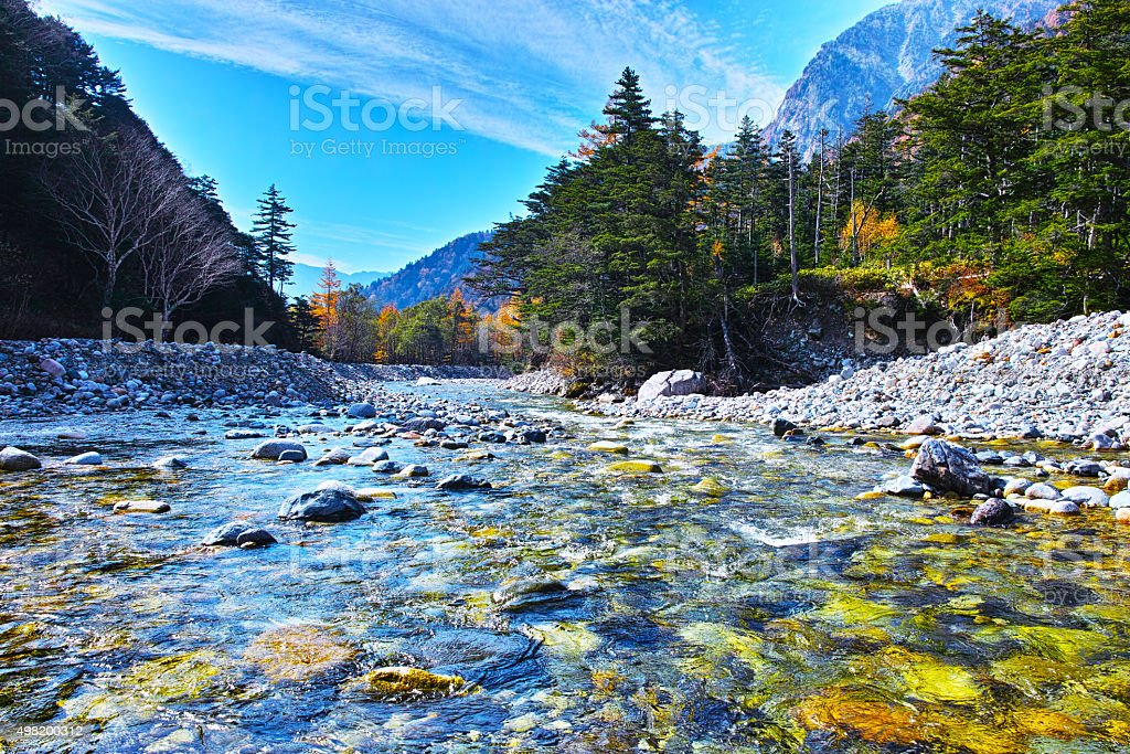 Upstream of the Azusa River (near Yokoo) stock photo