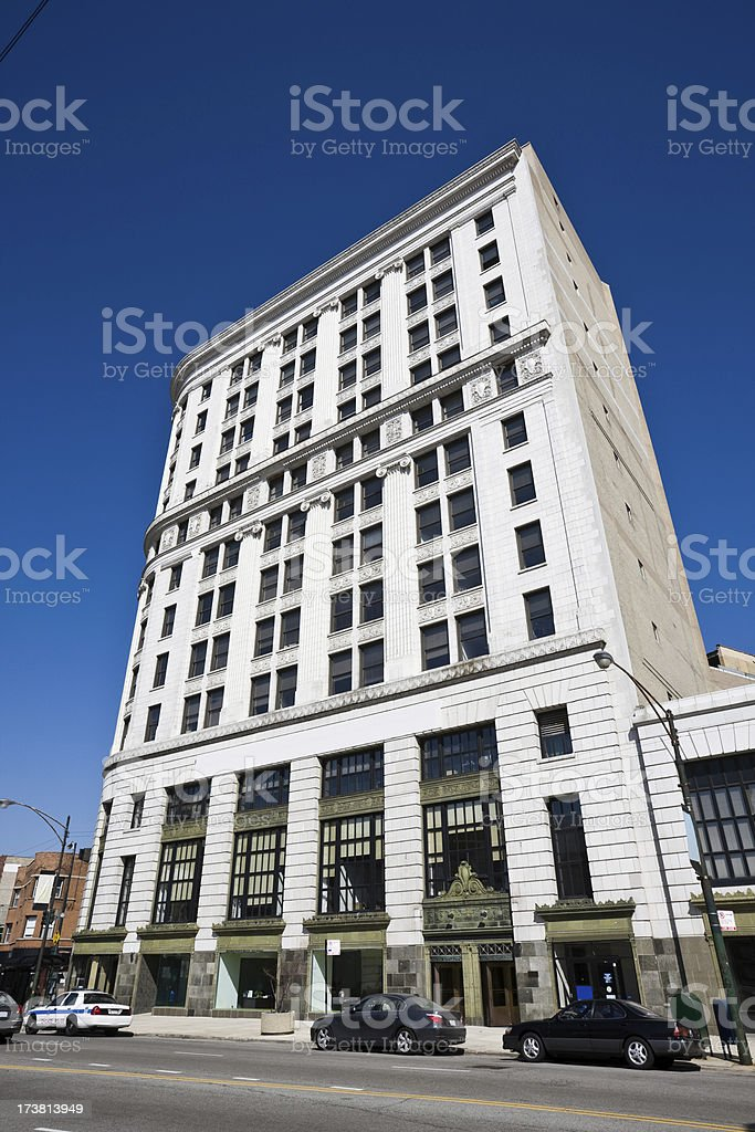 Uptown Bank Chicago royalty-free stock photo