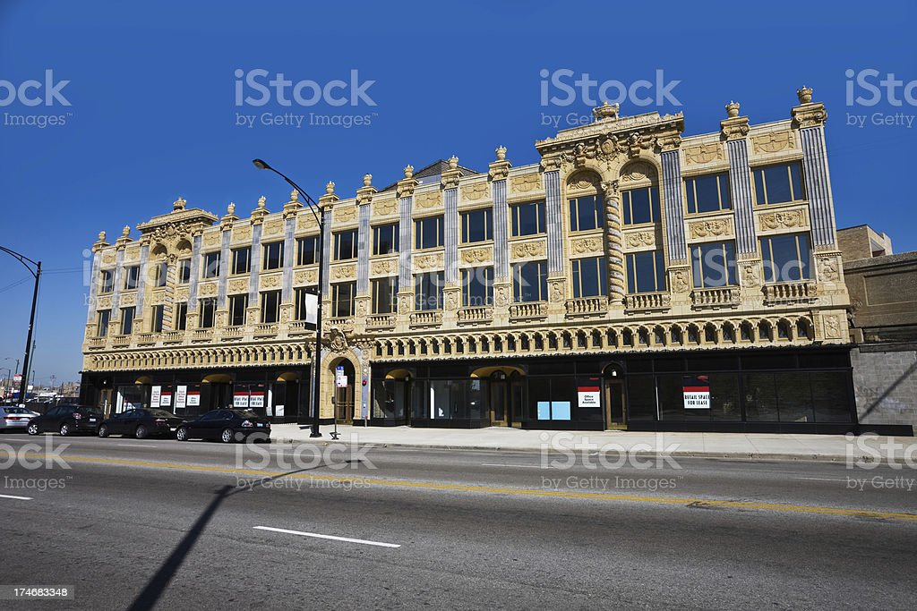 Uptown Broadway Building Chicago royalty-free stock photo