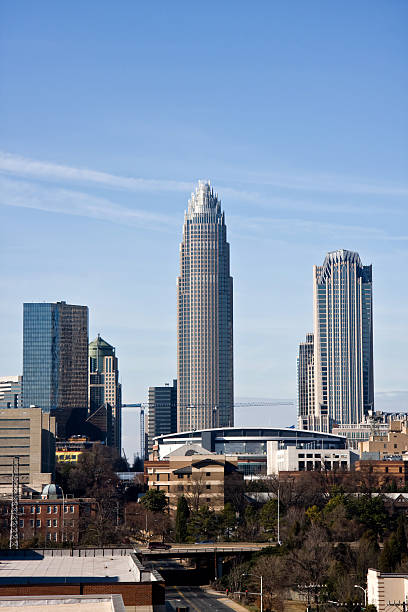 Uptown Charlotte, NC stock photo