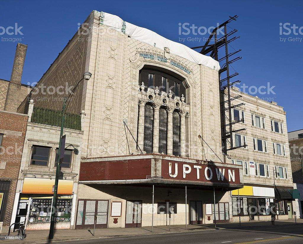Uptown Landmark Chicago royalty-free stock photo