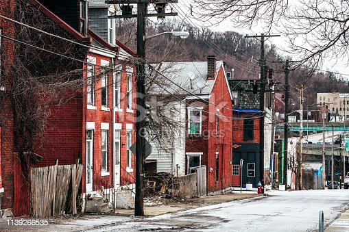 Uptown district in Pittsburgh, Pennsylvania, USA
