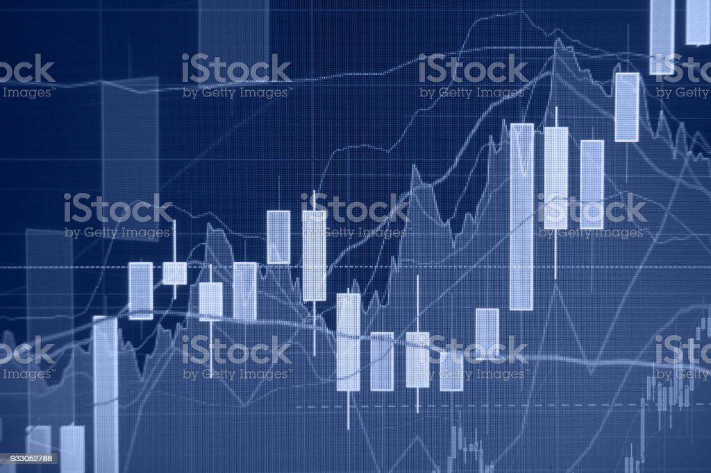 Uptrend - Stock market - Financial background stock photo