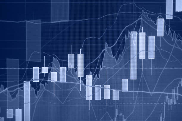 Uptrend - Stock market - Financial background stock photo
