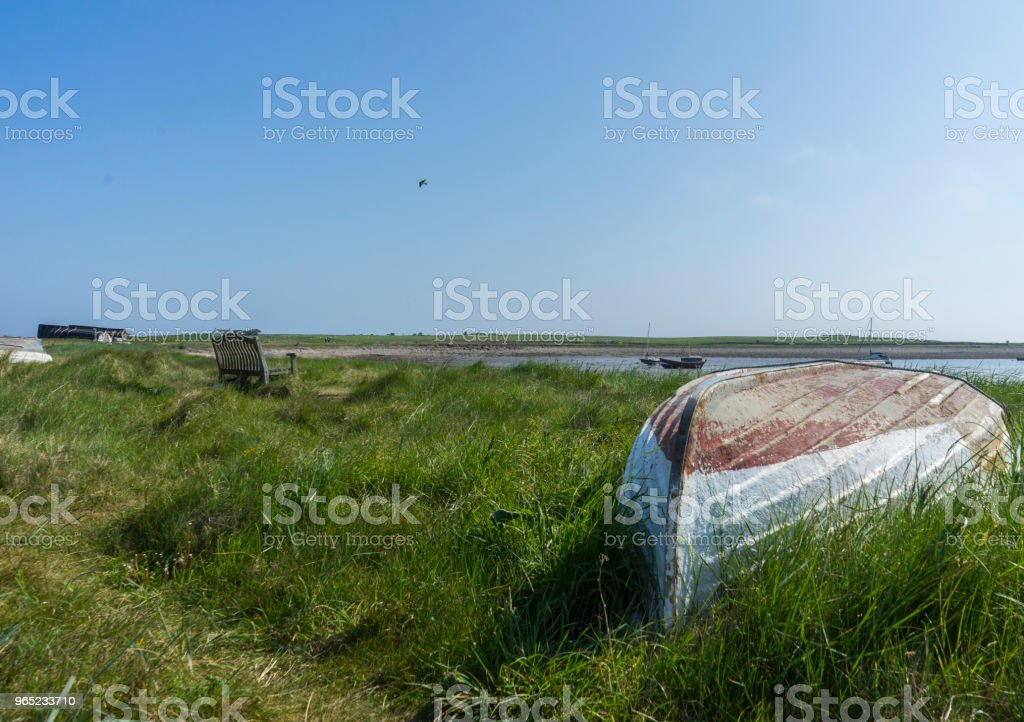 Upturned Boat royalty-free stock photo