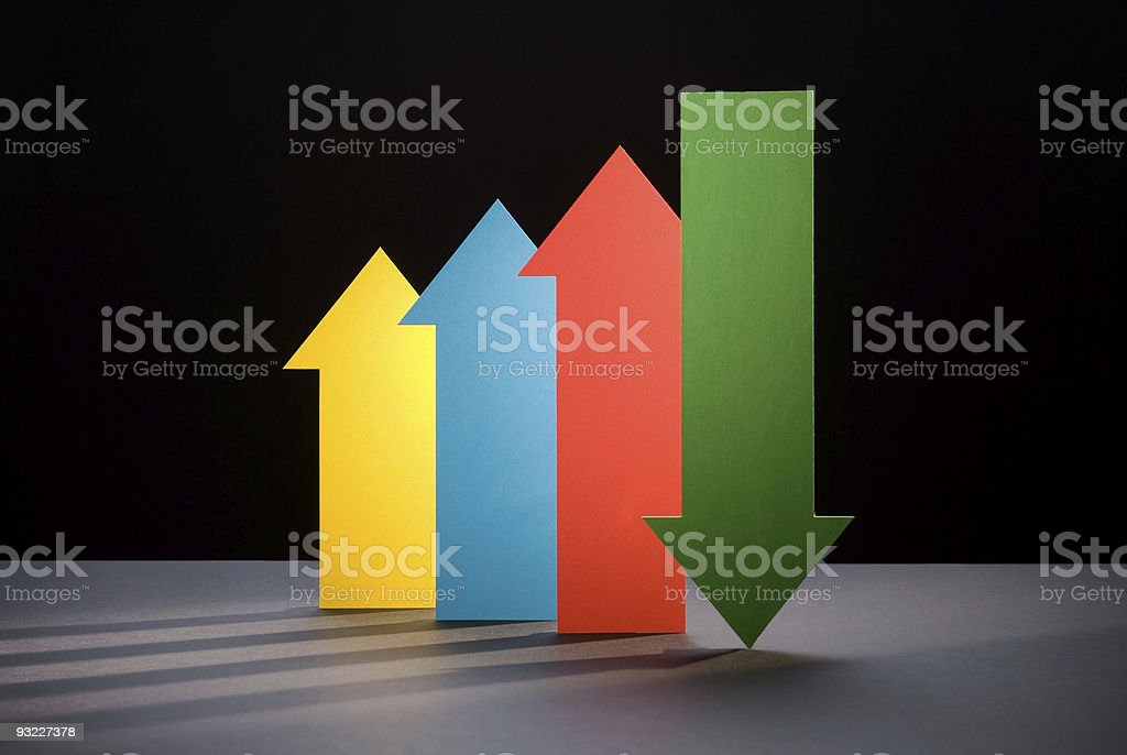 Upward And Downward Trends royalty-free stock photo