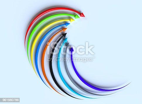Upward colorful arrows