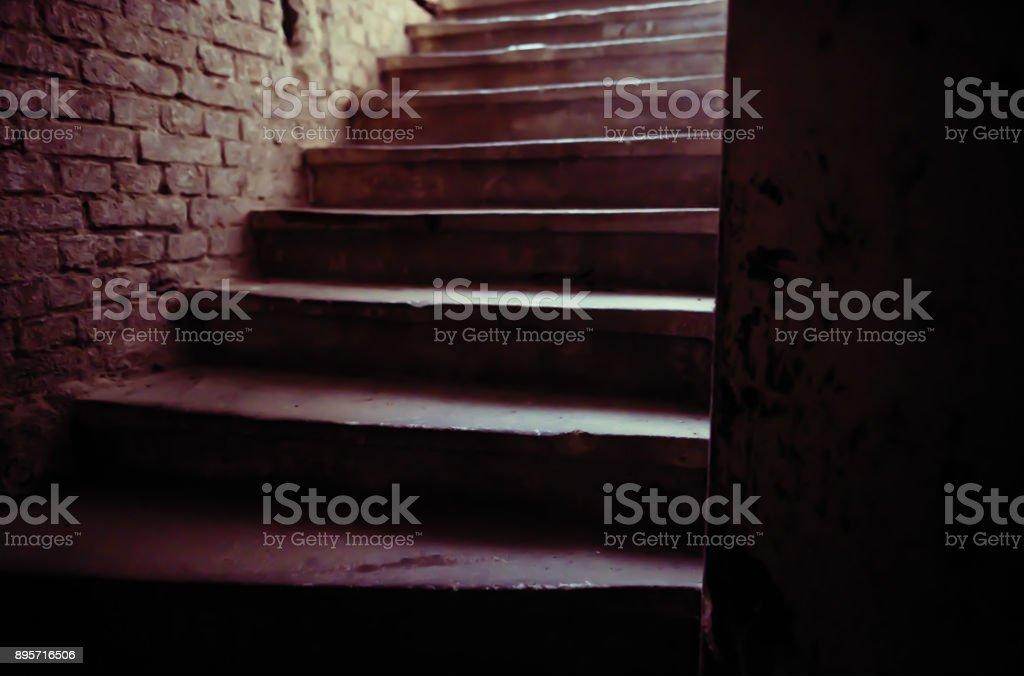 upward staircase stock photo
