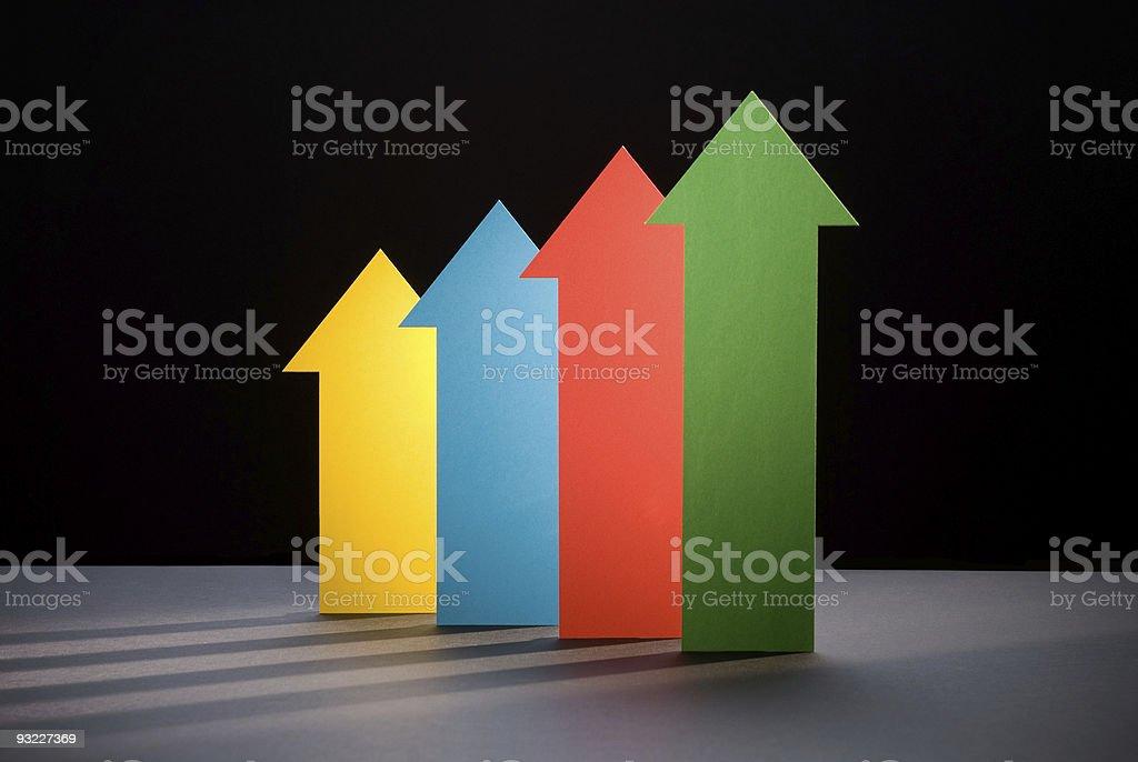 Upward Trend 2 stock photo