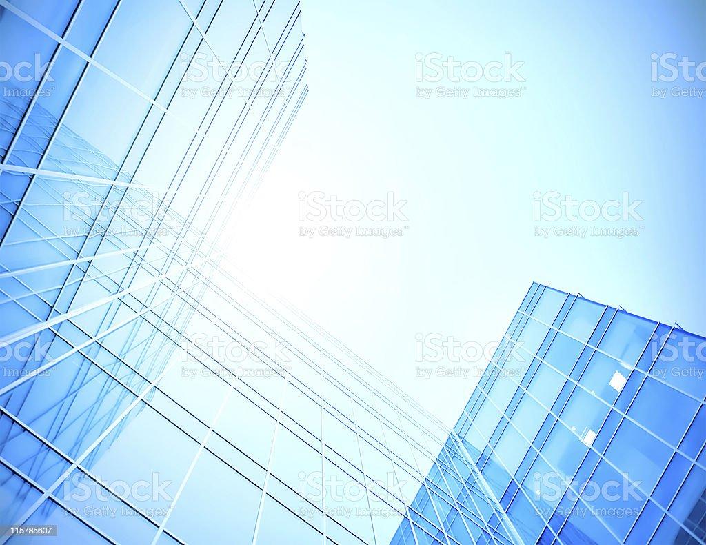 Upward view of glass skyscraper royalty-free stock photo