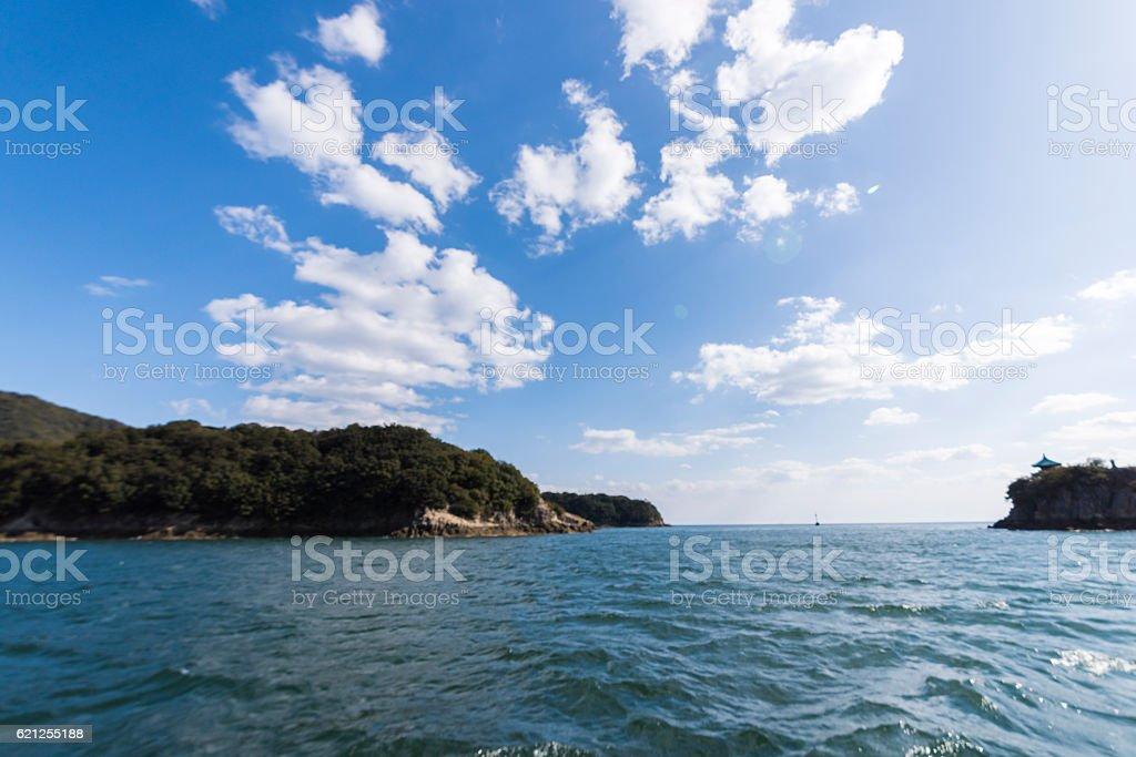 Ura of the sea and the blue sky Sensuijima-Tomo stock photo