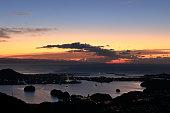 夜明けの浦戸湾