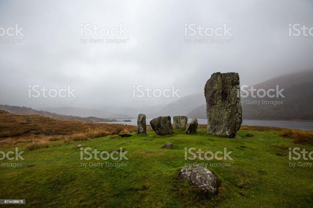 Uragh stone circle, County Kerry, Ireland stock photo