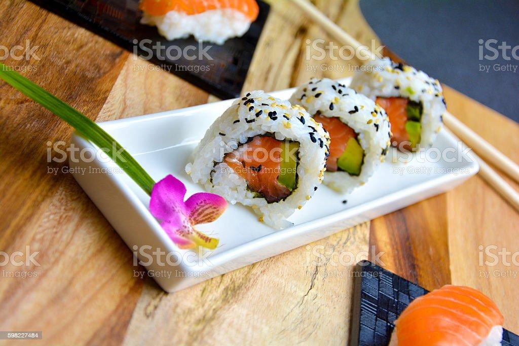 Uramaki Sushi foto royalty-free