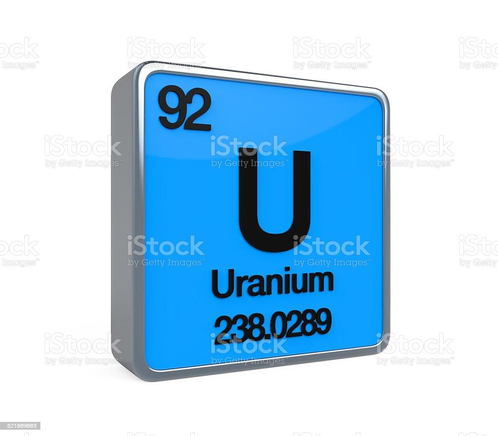 Uranium Element Periodic Table stock photo