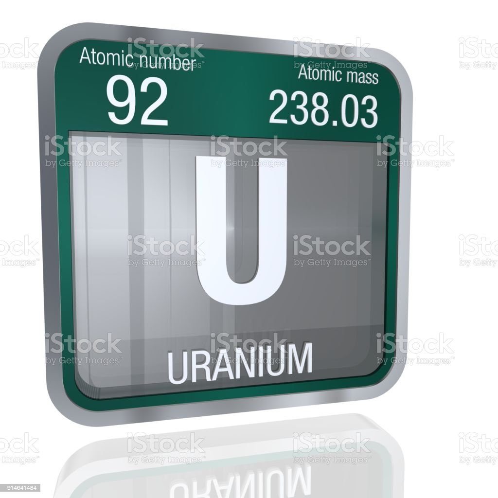 Uranium symbol in square shape with metallic border and transparent uranium symbol in square shape with metallic border and transparent background with reflection on the floor buycottarizona Images