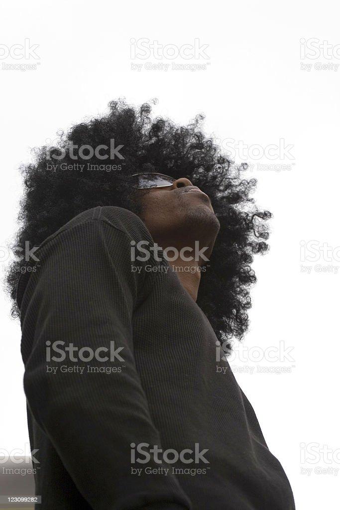 Urban Afro royalty-free stock photo