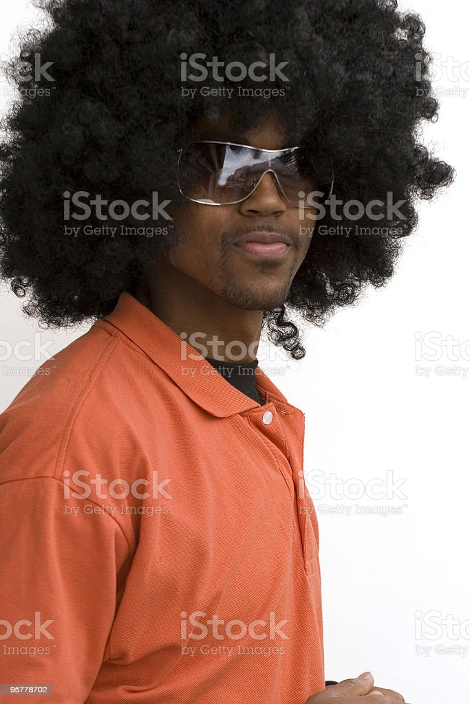 Urban Afro royalty-free stock photo