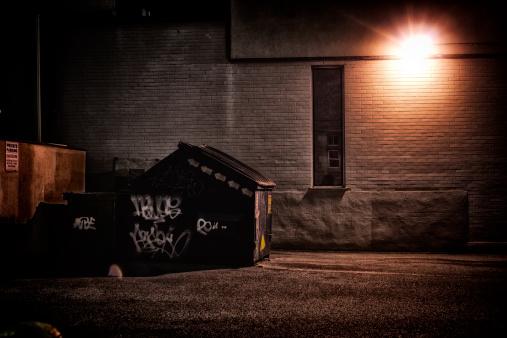 Urban Alley at Night