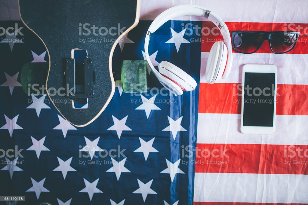 Urban american culture style stock photo