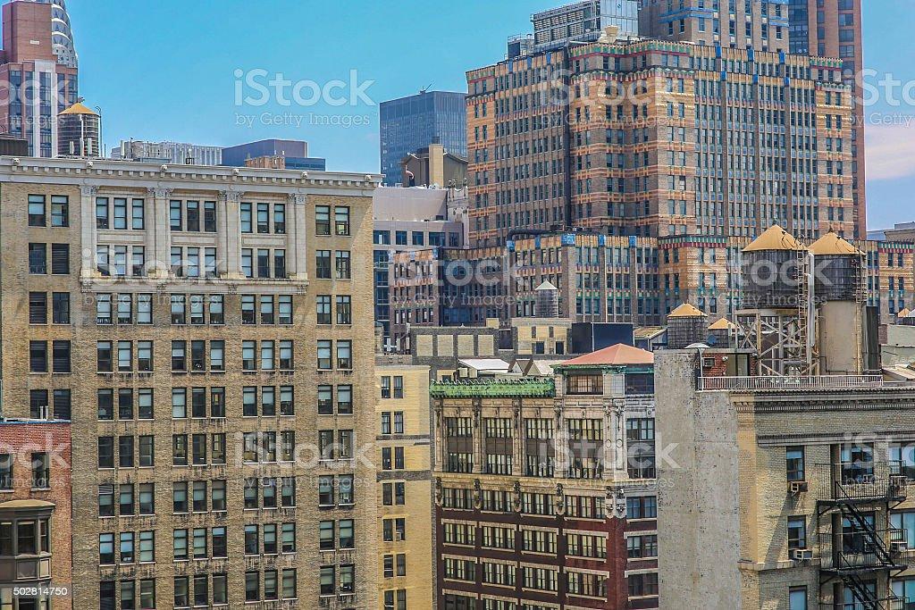Urban Apartement Buildings of New York City stock photo