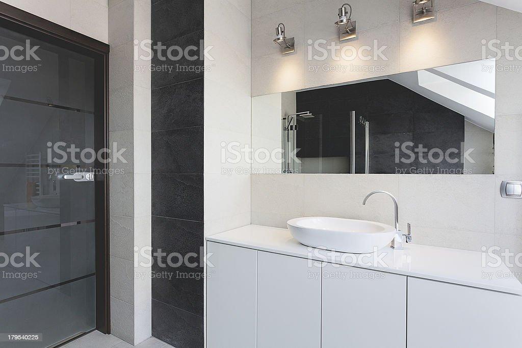 Urban apartment - bath counter royalty-free stock photo