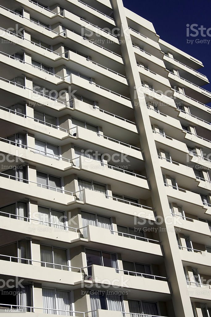 Urban Apartment Building Front royalty-free stock photo