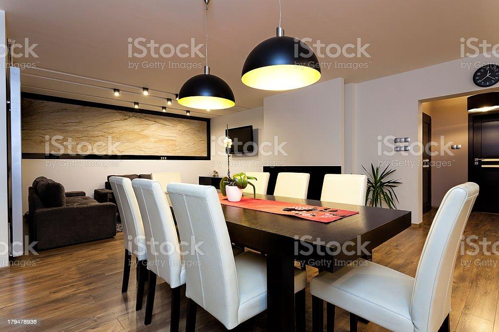 Urban apartment - climatic interior stock photo