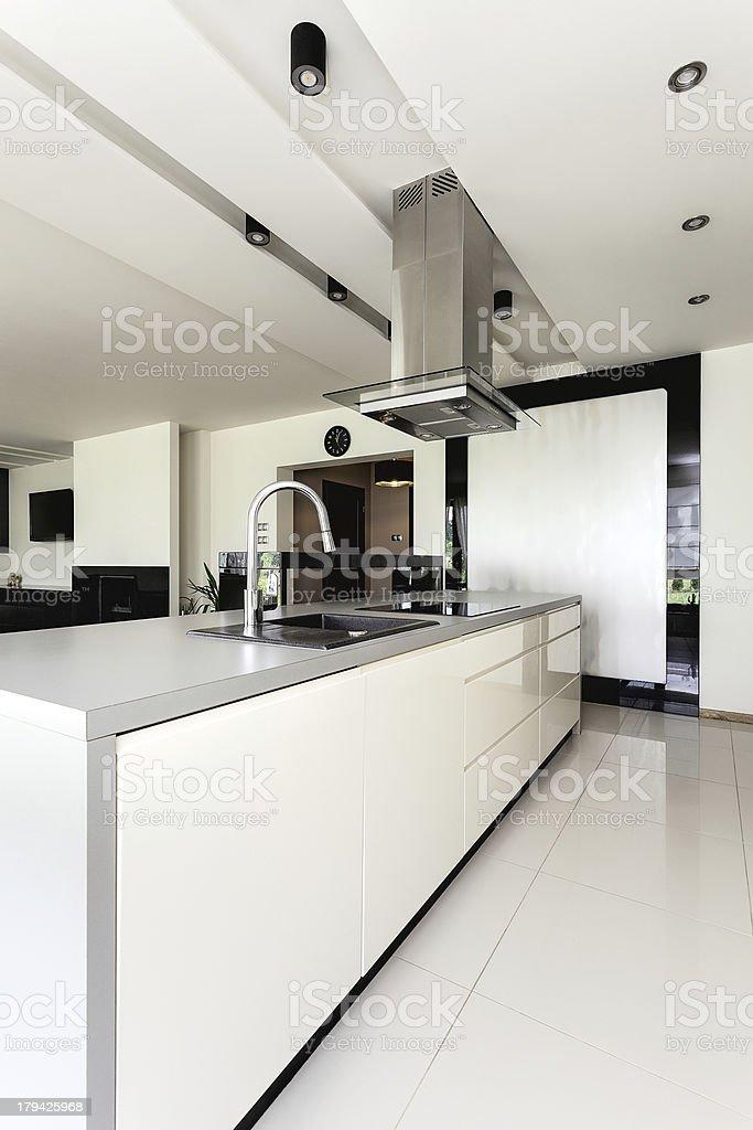 Urban apartment - kitchen interior royalty-free stock photo