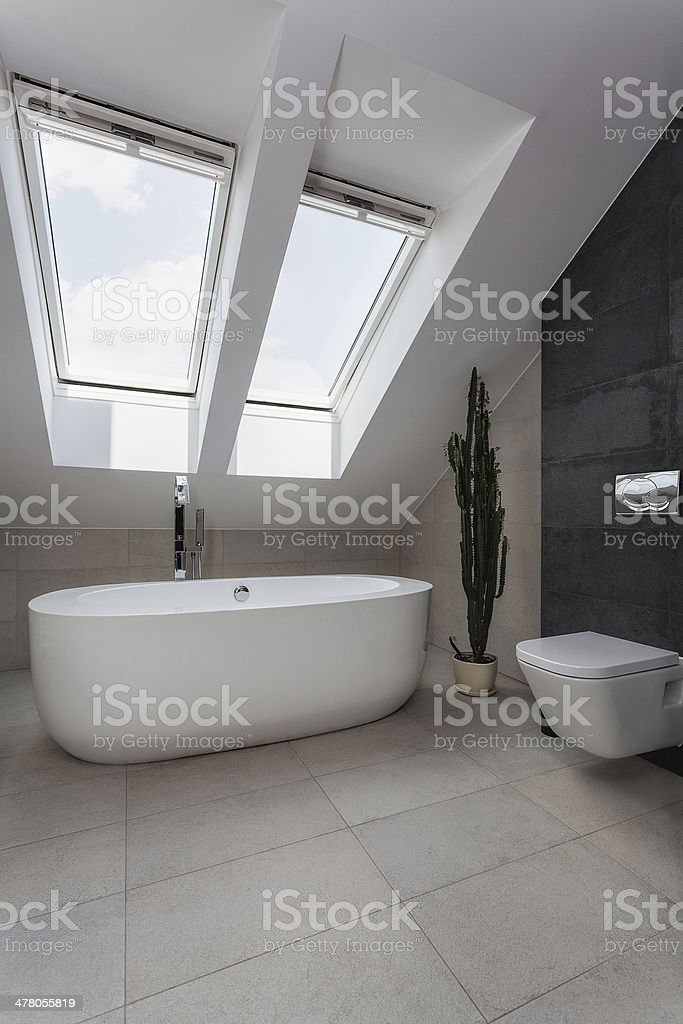 Urban apartment - white bath royalty-free stock photo