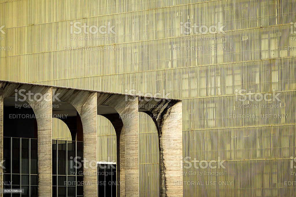 Urban Architectural Detail, Itamaraty Palace in Brasilia, Brazil stock photo