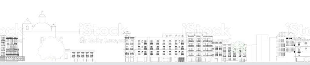 Urban Architectural drawing royalty-free stock photo