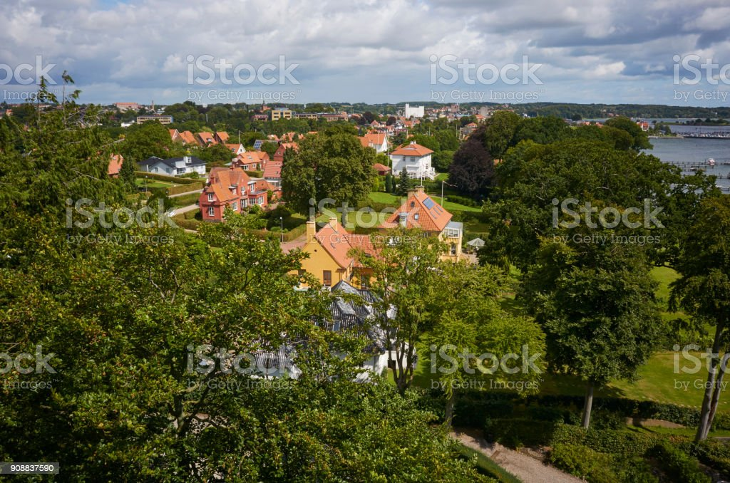 Urban area in Svendborg stock photo