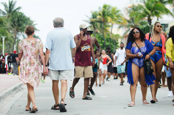 urban beach week miami 2018 - memorial day weekend стоковые фото и изображения