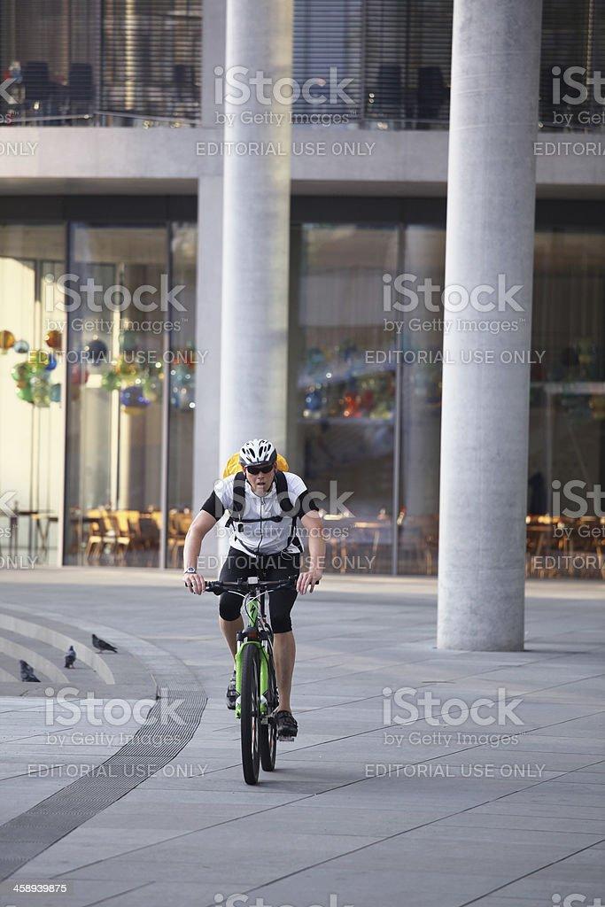 Urban biker royalty-free stock photo