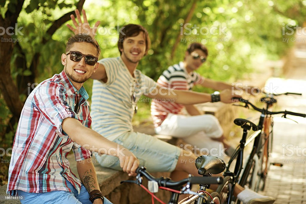 Urban bikers royalty-free stock photo