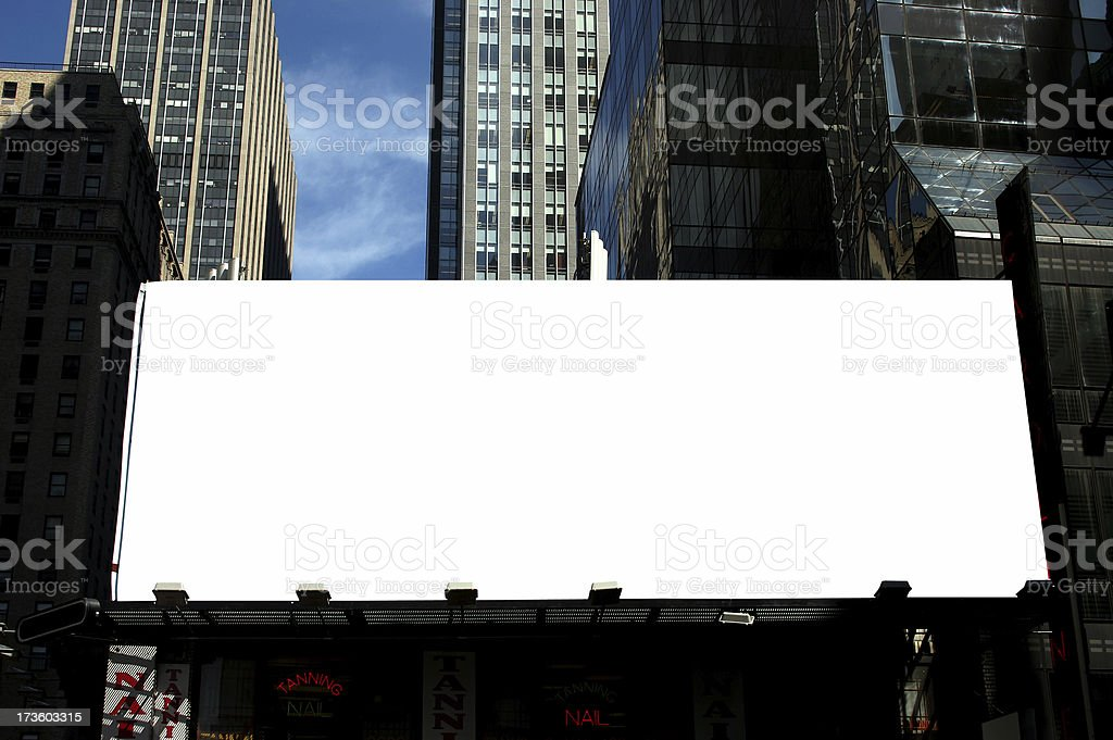 urban billboard stock photo