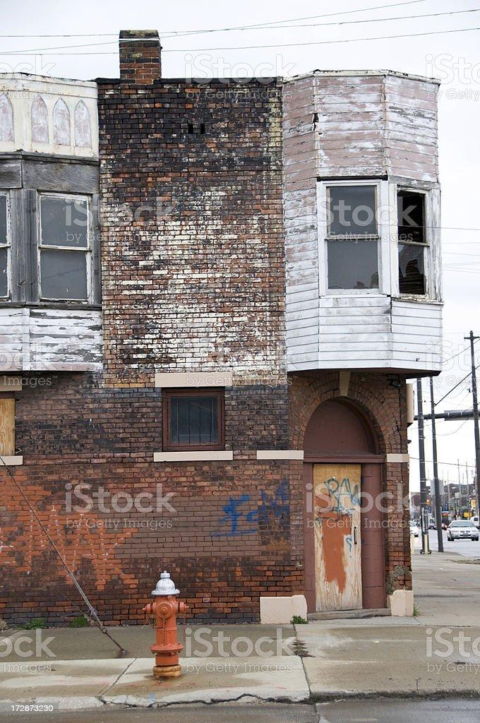 Urban Blight on a Street Corner stock photo