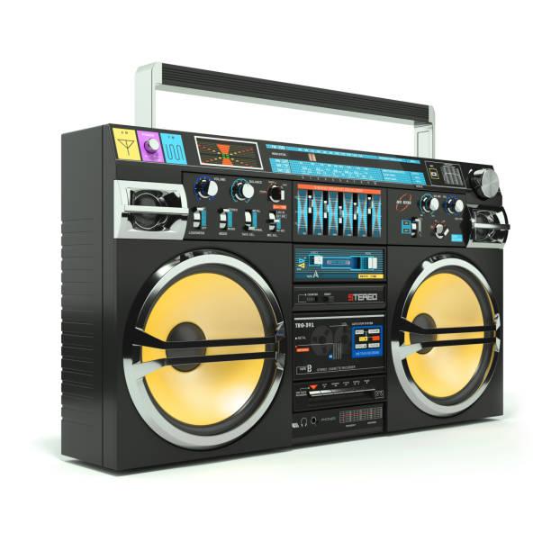 Urban boombox tape recorder 80s stock photo