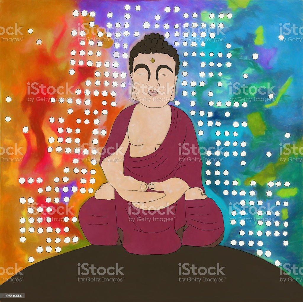 Urban Buddha Illustration stock photo