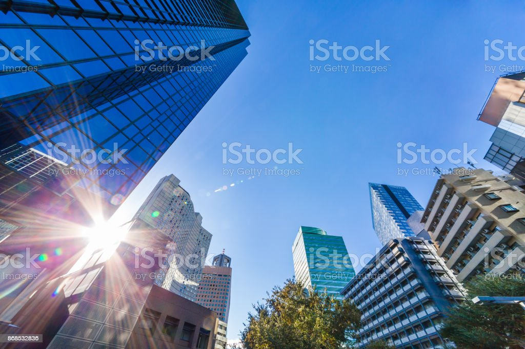 Urban building group stock photo