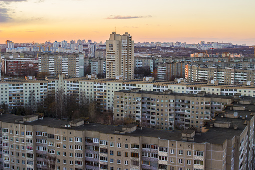 istock Urban buildings high-rise. High-rise buildings on top. Gray buildings minsk 947212938