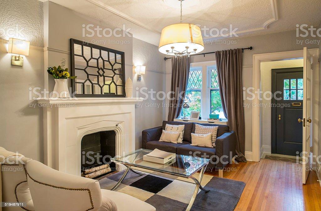 Urban Bungalow interior stock photo