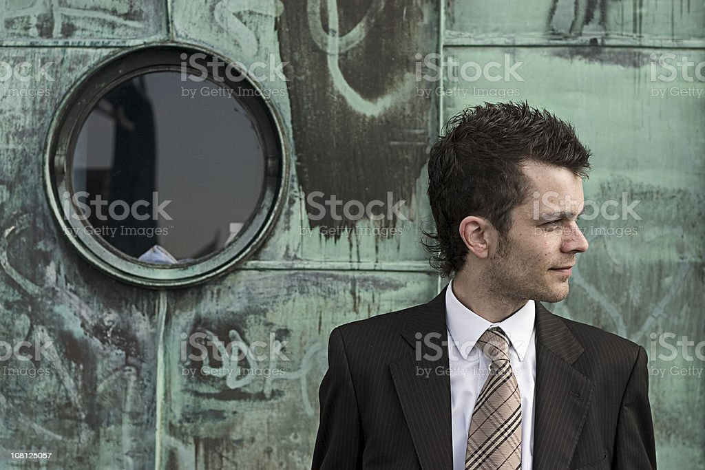 Urban businessman royalty-free stock photo