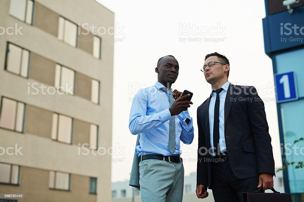 Urban businessmen foto royalty-free