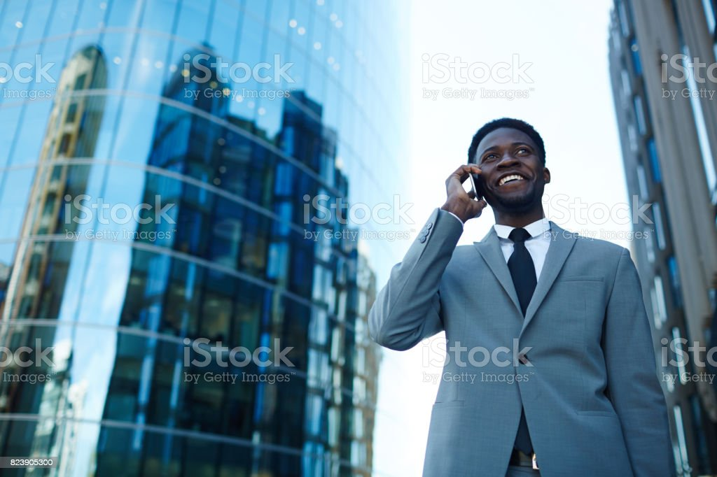 Urban calling stock photo