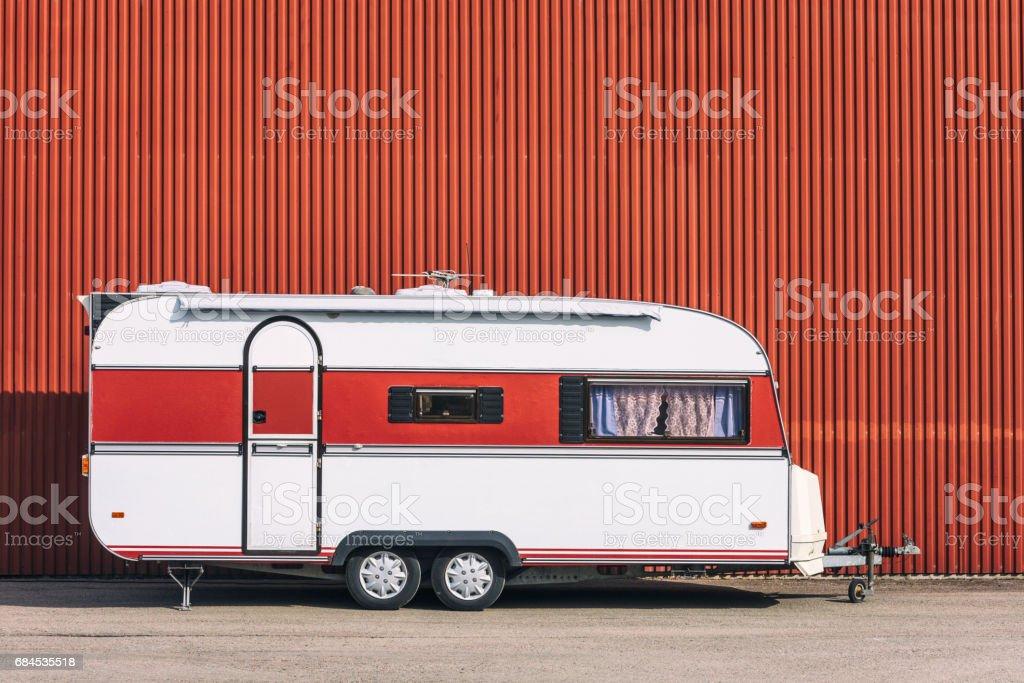 Urban camping stock photo