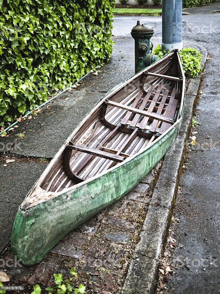 Urban Canoe stock photo