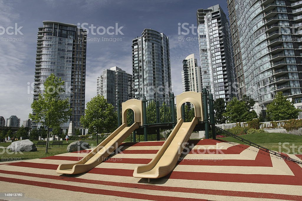 Urban Children's Playground royalty-free stock photo