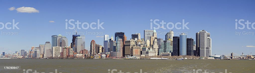 Urban City Panorama, New York Manhattan royalty-free stock photo